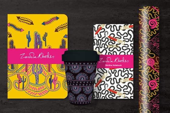 Zandra Rhodes collection of stationery and greeting cards